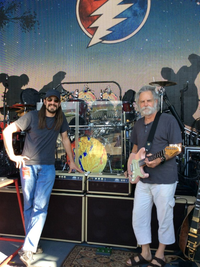 Mike Pascale of Fat Jimmy Amplifiers and Bob Weir of the Grateful Dead with Bob's Custom Fat Jimmy